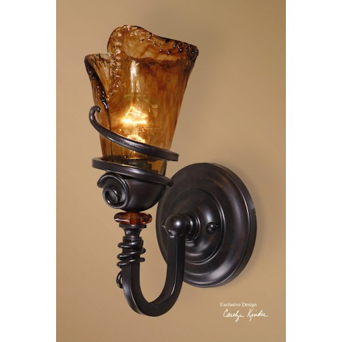 Uttermost Lighting Fixtures Vitalia 1 Light Wall Sconce
