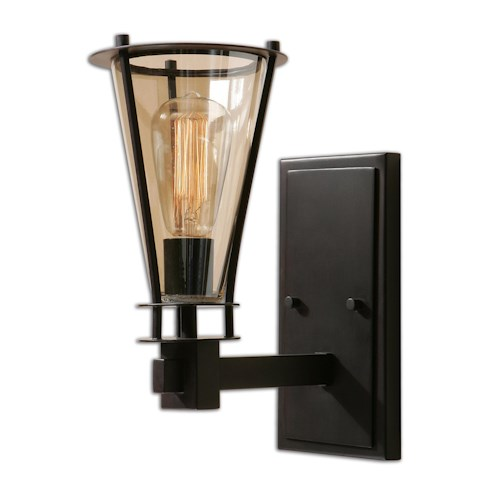 Uttermost Lighting Fixtures Frisco 1 Light Rustic Wall Sconce