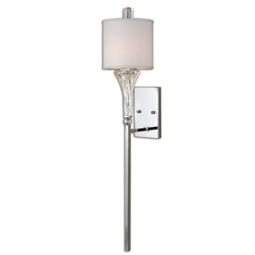 Uttermost Lighting Fixtures Uttermost Grancona 1 Light Chrome Wall Sconce