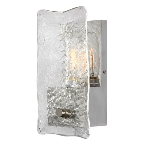 Uttermost Lighting Fixtures Cheminee 1 Light Textured Glass Sconce