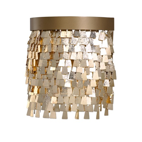 Uttermost Lighting Fixtures Tillie 1 Light Gold Sconce