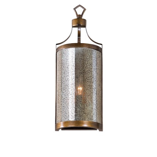 Uttermost Lighting Fixtures Croydon 1 Light Mercury Glass Sconce
