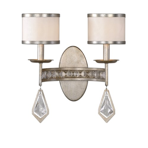 Uttermost Lighting Fixtures Tamworth Modern 2 Light Sconce