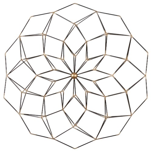 Uttermost Alternative Wall Decor Dorrin Geometric Floral Art