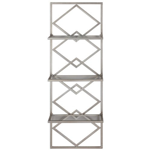Uttermost Alternative Wall Decor Silvia Silver Wall Shelf