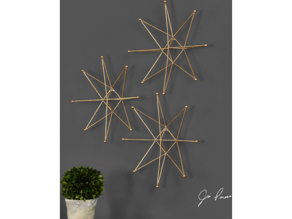 Metal Star Wall Decor Uttermost Alternative Wall Decor Gold Stars Wall Art S 3 Becker