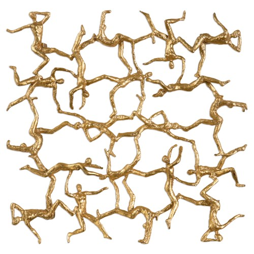 Uttermost Alternative Wall Decor Golden Gymnasts Wall Art