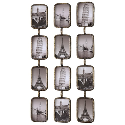 Uttermost Alternative Wall Decor Galvin Iron Photo Collage s/3