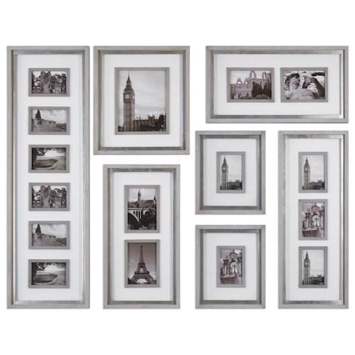 Uttermost Alternative Wall Decor  Seine Gray Oak Photo Collage (Set of 7)