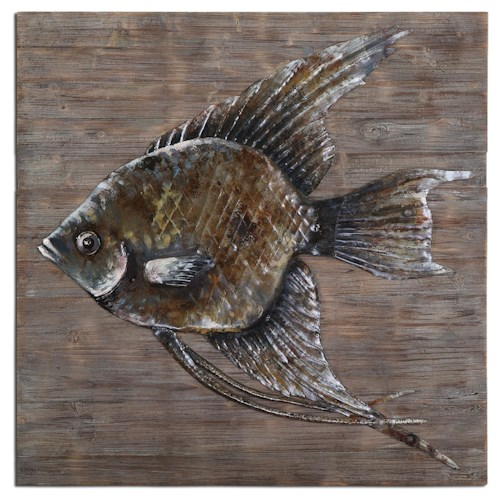 Uttermost Alternative Wall Decor Iron Fish Wall Art