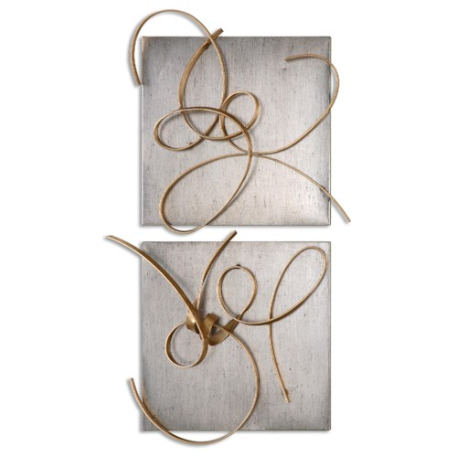 Uttermost Alternative Wall Decor Harmony Metal Wall Art, S/2