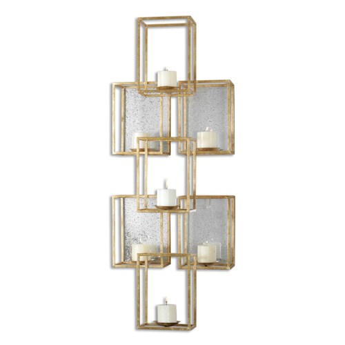 Uttermost Alternative Wall Decor Ronana Mirrored Wall Sconce