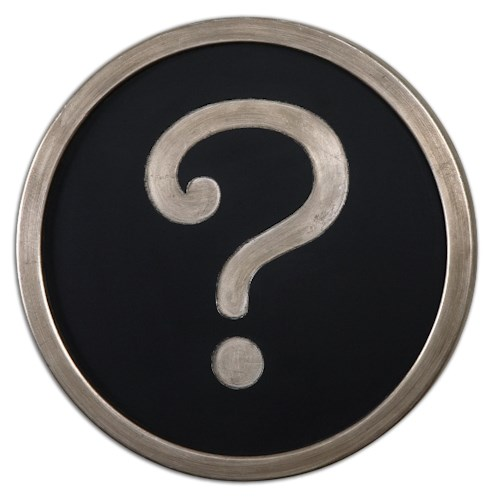 Uttermost Alternative Wall Decor Question Mark Wall Art
