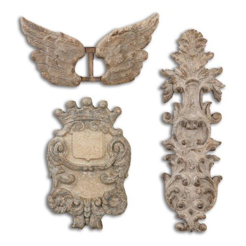 Uttermost Alternative Wall Decor Rustic Artifacts, Set of 3