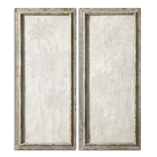 Uttermost Alternative Wall Decor Fiore Panels Wall Art S/2