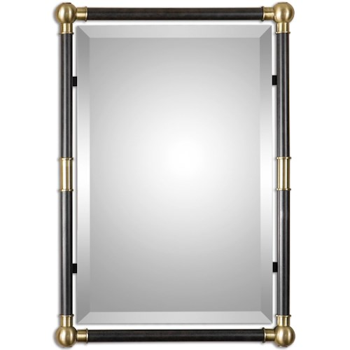 Uttermost Mirrors Rondure Bronze Metal Wall Mirror