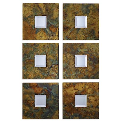 Uttermost Mirrors Ambrosia Squares Mirror Set 2