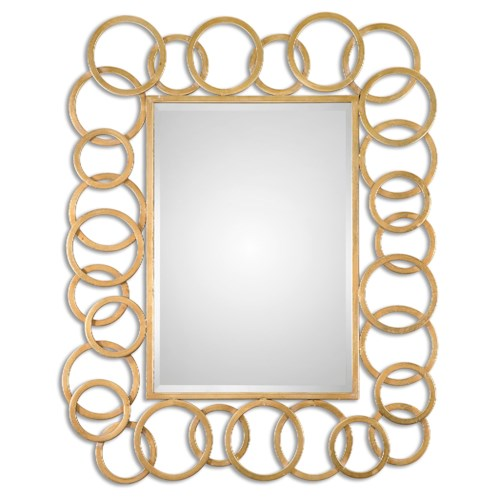 Uttermost Mirrors Amena Gold Rings Mirror