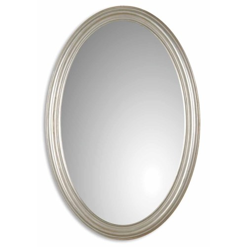 Uttermost Mirrors Franklin Oval Silver U