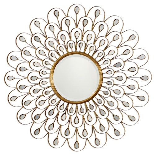 Uttermost Mirrors Golden Peacock Mirror