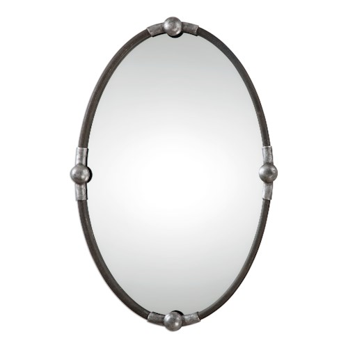 Uttermost Mirrors Carrick Black Oval Mirror