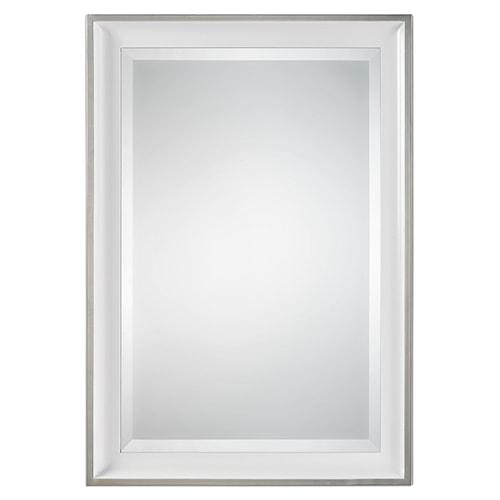 Uttermost Mirrors Lahvahn White Silver Mirror