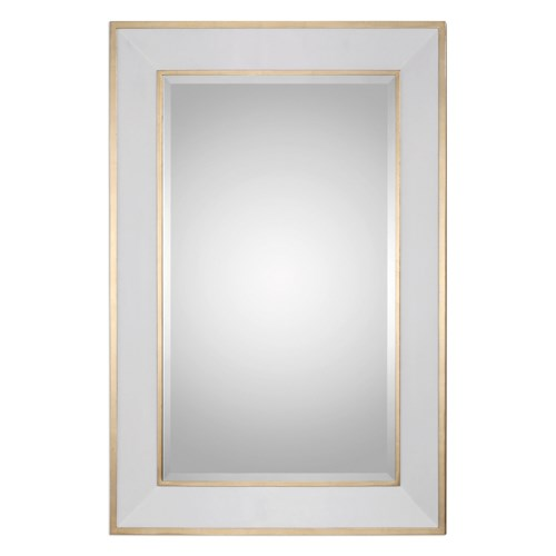 Uttermost Mirrors Cormor White Mirror