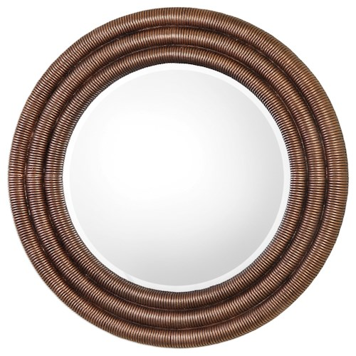 Uttermost Mirrors  Helical Round Copper Mirror