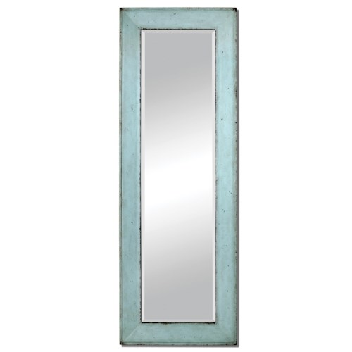 Uttermost Mirrors Chasity Light Blue Leaner Mirror