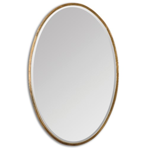 Uttermost Mirrors Herleva Gold Oval Mirror