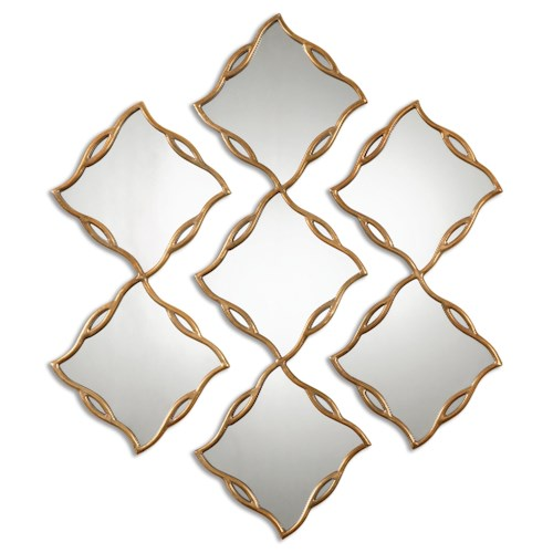 Uttermost Mirrors Terlizzi Gold Mirrors, S/3