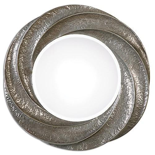 Uttermost Mirrors Spiraali Round Silver Wall Mirror