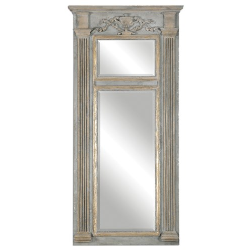 Uttermost Mirrors Sella Stately Weathered Gray Mirror