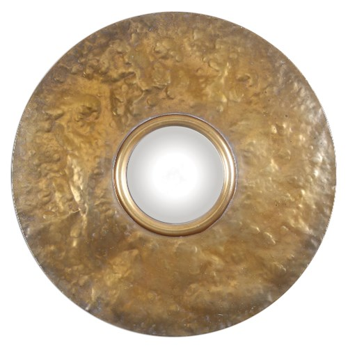 Uttermost Mirrors Nedonas Oxidized Gold Mirror