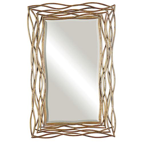 Uttermost Mirrors Tordera Oxidized Gold Mirror