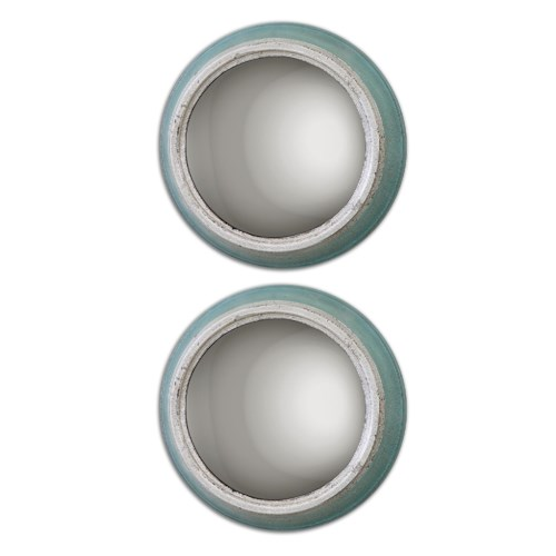 Uttermost Mirrors Fanchon Round Mirrors Set of 2