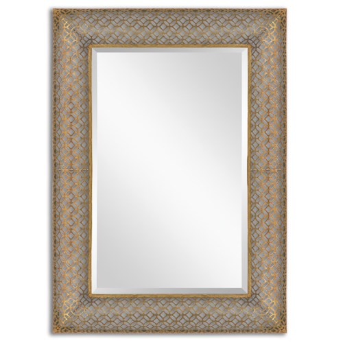 Uttermost Mirrors Ariston Stamped Metal Mirror