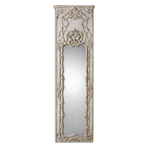 Uttermost Mirrors Castellana Gray-Ivory Leaner Mirror