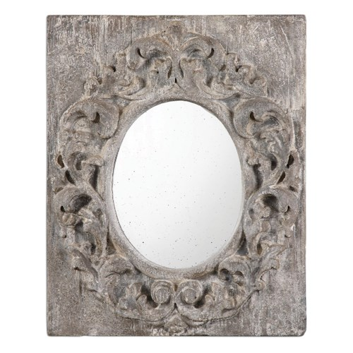 Uttermost Mirrors Valmorea Aged Gray Mirror