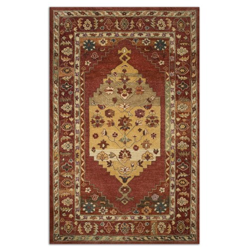 Uttermost Rugs Estelle 9 X 12 Rug - Red