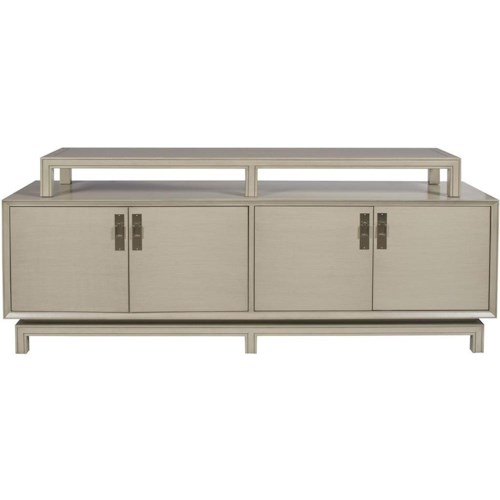 Vanguard Furniture Accent and Entertainment Chests and Tables Contemporary Asian Inspired TV Console