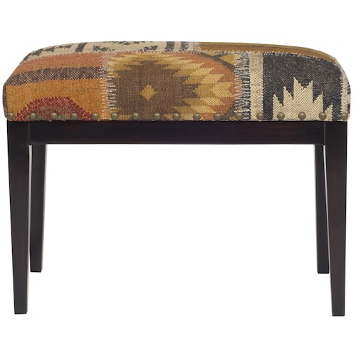 Vanguard Furniture Accent and Entertainment Chests and Tables Ottoman with Upholstered Seat and Nail Head Trim