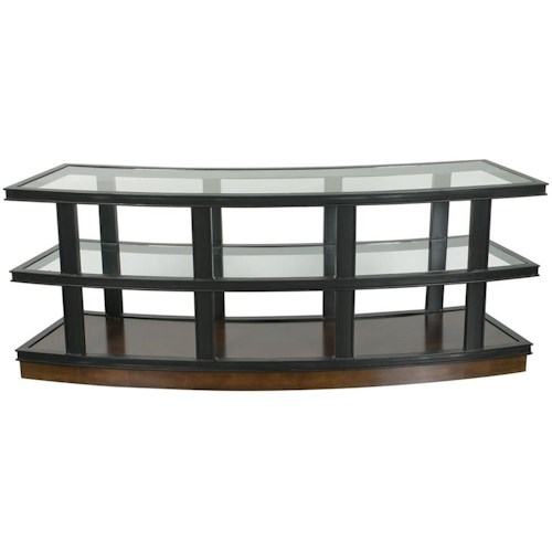 Vanguard Furniture Accent and Entertainment Chests and Tables Radius TV Console with Glass Shelves