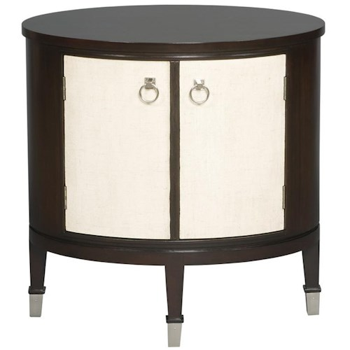 Vanguard Furniture Accent and Entertainment Chests and Tables Maclaine Oval End Table with 2 Doors