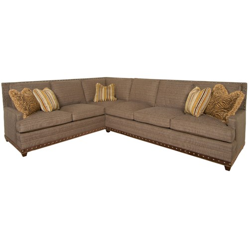 Vanguard Furniture America Bungalow Riverside Sectional Sofa