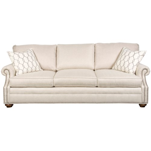 Vanguard Furniture America Bungalow Gutherly Sofa with Flare Tapered Arms