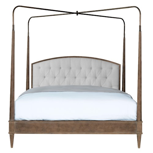 Vanguard Furniture Compendium King Anderkit Bed with Removable Posts and Canopy