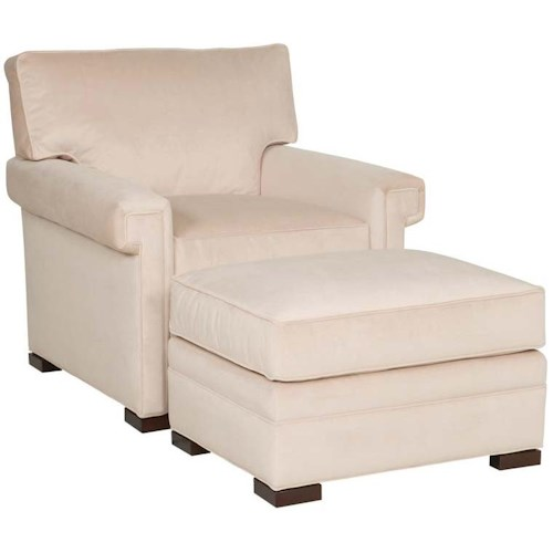 Vanguard Furniture Davidson Transitional Chair and Ottoman