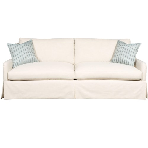 Vanguard Furniture Fisher Contemporary Sofa with Track Arms and Skirt