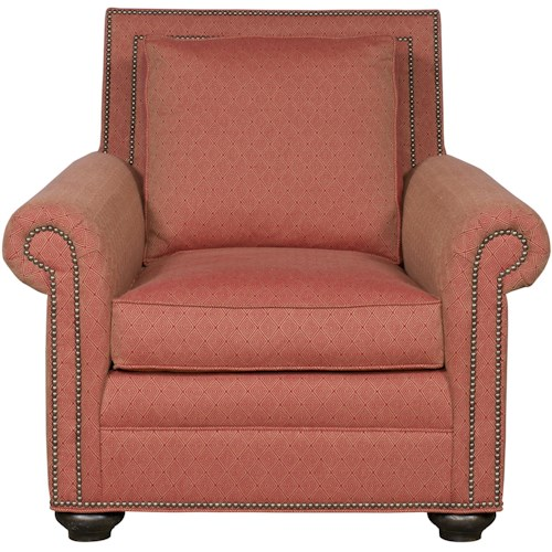 Vanguard Furniture Simpson Traditional Chair with Nail Head Trim